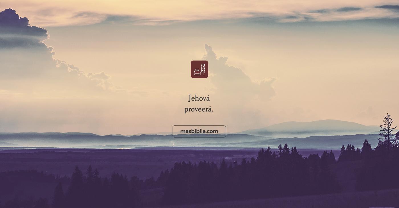 #fueradecontexto Jehová Proveerá, ¿A qué tipo de provisión se refiere?